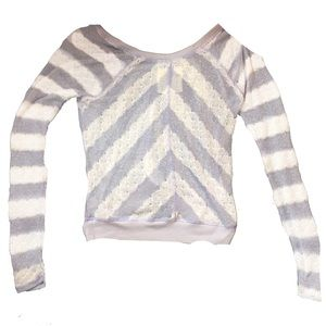 Free People Sweaters - WE THE FREE by fee people Mesh Sweater Top